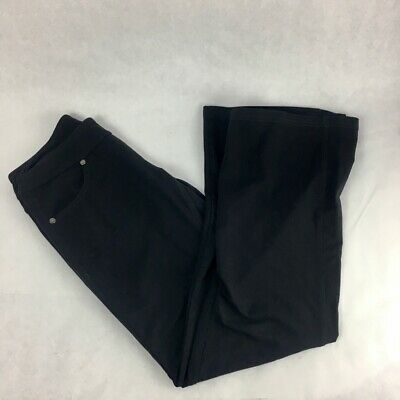 Athleta Womens Bettona Classic Pants Black Elastic Waist Stretch Petite XXSP