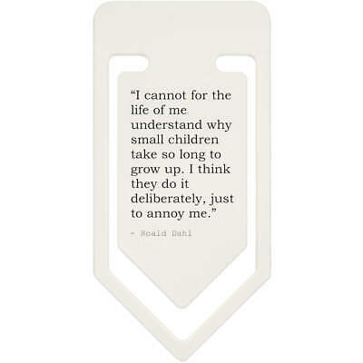 Family Quote By Roald Dahl Plastic Paper Clip (CC077599)