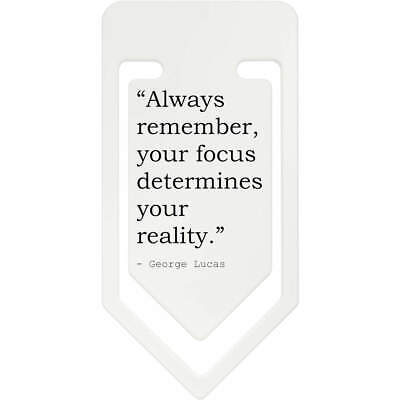 Inspirational Quote By George Lucas Plastic Paper Clip (CC079375)