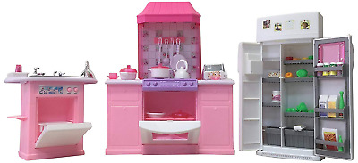 Gloria Dollhouse Furniture, Deluxe Kitchen Play Set For Kids