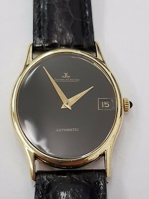 Jaeger Le Coultre Gents 18ct Gold Watch With Date, In Perfect Working Order With