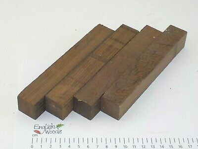 4 Wenge woodturning or wood carving pen blanks. 25 x 25 x 160mm. 3946A