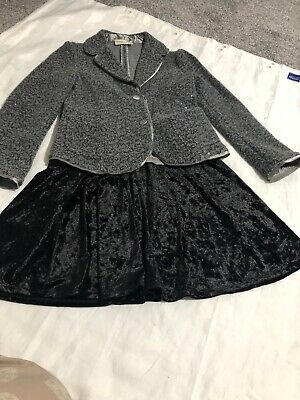 Girls Soarkly Blazer Age 8 Made In Italy Beautiful With A Velvet Skirt