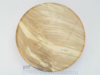 English Spalted Beech woodturning or wood carving bowl blank. 305 x 55mm. 3961A