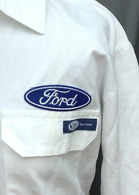 """100% Cotton Goodwood Revival Vintage Retro Ford Badged Overalls 36-38"""" Chest"""