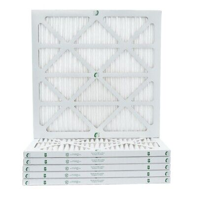 "1"" Inch Glasfloss ZL MERV 10 Pleated Air Filters for AC & Furnace.  6 Pack"