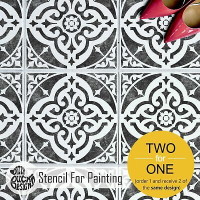 TURIN Tile Wall Furniture Floor Stencil for Painting