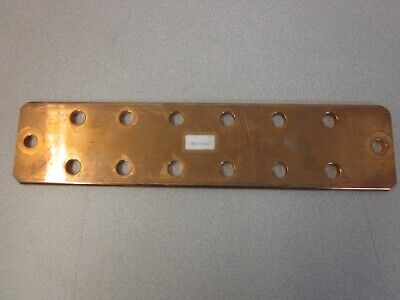 "Copper Bus Bar 13"" Long  3"" Wide .25"" Thick  Drilled Copper BUSBAR"