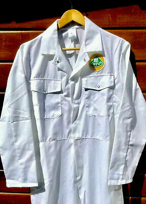 """100% Cotton Goodwood Revival Vintage Retro Lotus Badged Overalls 48-50"""" Chest"""