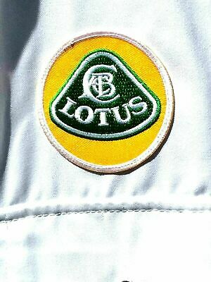 """100% Cotton Goodwood Revival Vintage Retro Lotus Badged Overalls 40 - 42"""" Chest"""