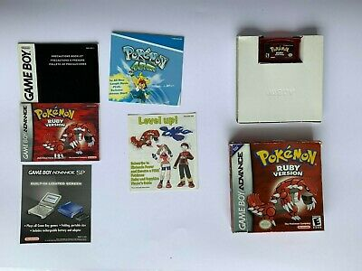 Pokemon Ruby Nintendo GBA GameBoy Advance Complete In Box CIB Authentic Tested