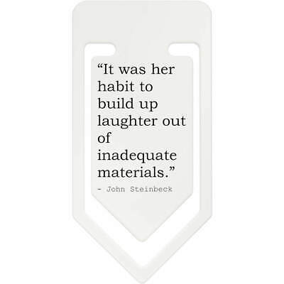 Women Quote By John Steinbeck Plastic Paper Clip (CC083921)