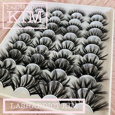20 PAIRS Mink Lashes Eyelashes 3D WISPY Eyelash Book Extension Fur 💕US SELLER