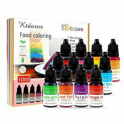 Food Colouring Food Dye Flo Concentrated Liquid Food Air Brush - 12 Colours(12