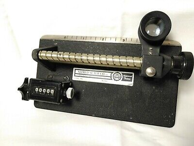 Vintage Alfred Suter Textile / Fabric Thread Counter w/ Manual Clicker Counter
