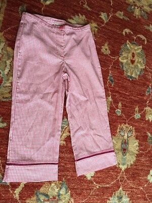 NEXT girls Vichy Check Crop Trousers Age 9 Yrs Height 134 Cm VGC