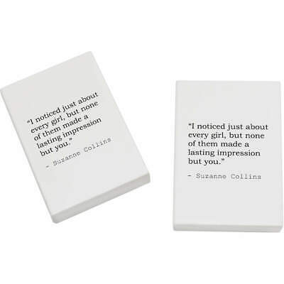 2 x 45mm Quote By Suzanne Collins Erasers / Rubbers (ER00008653)