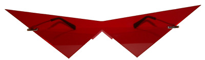 Red V costume cosplay glasses.