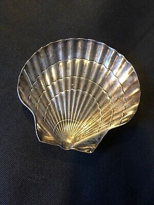 Vintage Tiffany & Co Sterling Silver Shell Dish 1950's