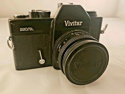 Vivitar 220/SL 35MM Film SLR Camera w/ 50mm Lens F/1.9 - WORKS!