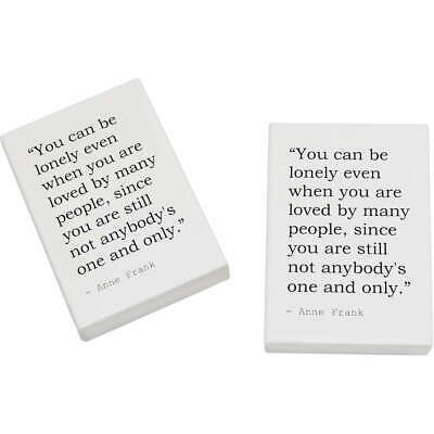 2 x 45mm Quote By Anne Frank Erasers / Rubbers (ER00007219)
