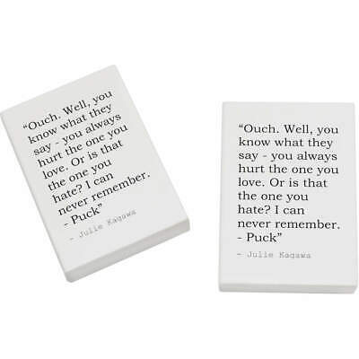 2 x 45mm Quote By Julie Kagawa Erasers / Rubbers (ER00021231)