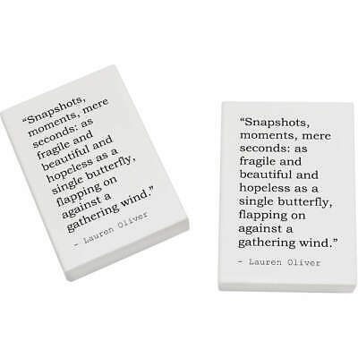 2 x 45mm Quote By Lauren Oliver Erasers / Rubbers (ER00007235)