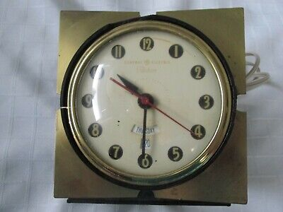 ANTIQUE GENERAL ELECTRIC TELECHRON ELECTRIC ALARM CLOCK WITH DAY AND DATE for pa