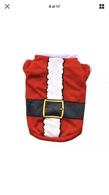 Christmas Pet Santa Claus Clothes Small Puppy Dog Cat Outfit Cosplay Costume UK