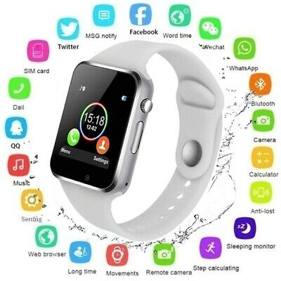 Bluetooth Smart Watch For Android iOS iPhone Samsung Phone Mate SIM Card & Camer