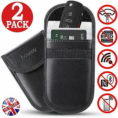 2 x Car Key Signal Blocking Pouch Blocker Case Faraday Cage Fob Keyless RFID Bag
