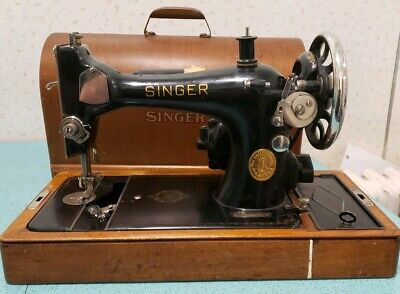 Vintage 1940s Singer Model 128 Celtic Swirl Sewing Machine Working Condition