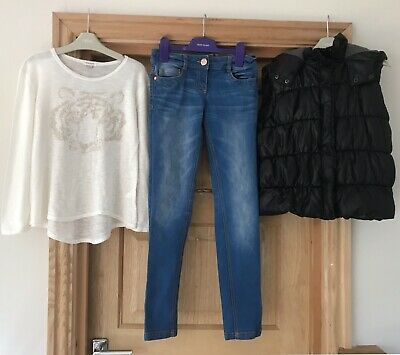 RIVER ISLAND NEXT *GIRLS GILET JEANS  JUMPER OUTFIT Winter 11 YEARS 11-12y