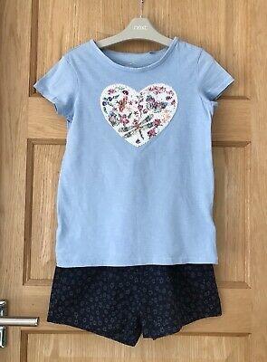 NEXT *9y GIRLS SUMMER SHORTS T-SHIRT OUTFIT AGE 9 YEARS