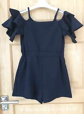 RIVER ISLAND *9-10y GIRLS BLUE SHORTS PLAYSUIT OUTFIT 9-10 YEARS