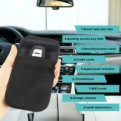 2x Car Key Signal Blocker Blocking Pouch Bag Case Faraday Cage Fob Keyless RFID