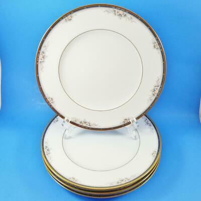 "Set of 4 Noritake ONTARIO Dinner Plate Lot 10-1/2"" #3763 EXCELLENT (3 Available)"