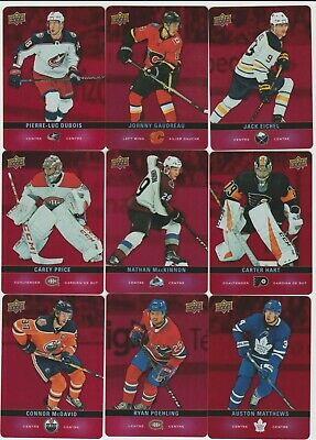 2019-20 Upper Deck Tim Hortons Insert Red Die Cut Hockey Cards U Pick