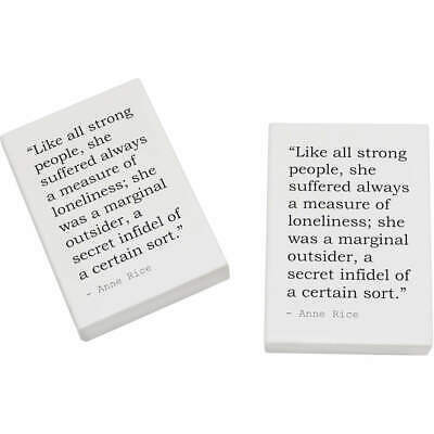 2 x 45mm Quote By Anne Rice Erasers / Rubbers (ER00013398)
