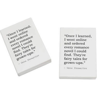 2 x 45mm Quote By Gena Showalter Erasers / Rubbers (ER00015086)