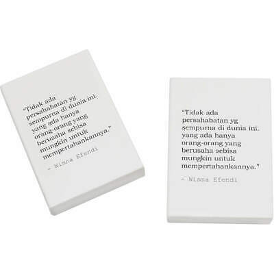 2 x 45mm Quote By Winna Efendi Erasers / Rubbers (ER00011926)