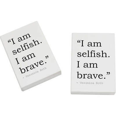 2 x 45mm Quote By Veronica Roth Erasers / Rubbers (ER00012843)