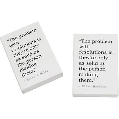2 x 45mm Quote By Ellen Hopkins Erasers / Rubbers (ER00019607)
