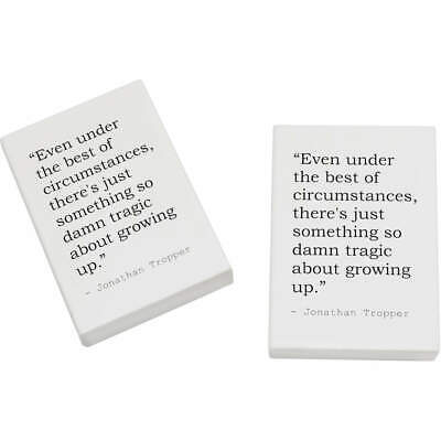 2 x 45mm Quote By Jonathan Tropper Erasers / Rubbers (ER00015561)