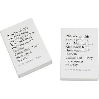 2 x 45mm Quote By Cassandra Clare Erasers / Rubbers (ER00013447)