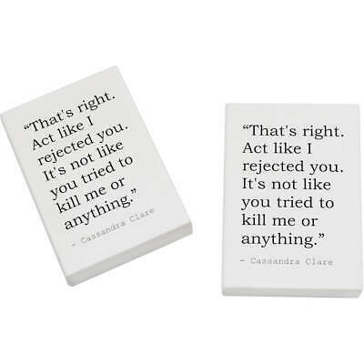 2 x 45mm Quote By Cassandra Clare Erasers / Rubbers (ER00014776)