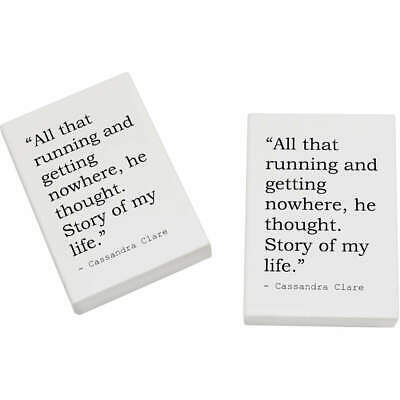 2 x 45mm Quote By Cassandra Clare Erasers / Rubbers (ER00015939)
