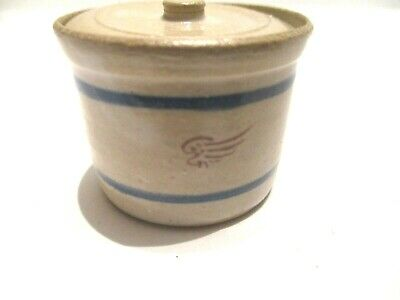 Miniature Gray Hand Crafted Clay Pottery Crock Pot with Removable Lid  #10