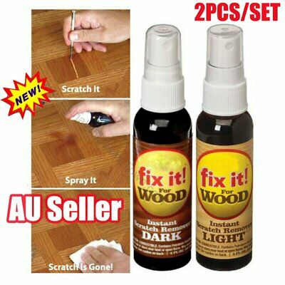 2 Pcs Instant Fix Wood Scratch Remover Set Fix it Wood Scratch Repair Spray VW