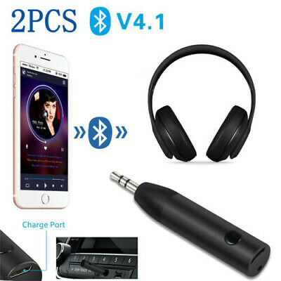 Wireless Bluetooth Receiver 3.5mm Audio Adapter Headphone For Mic Car Aux Speake